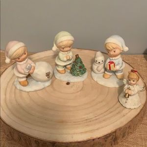 Homco Christmas Children Set